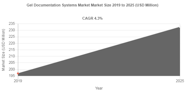 Gel Documentation Systems market size to record a 4.3% CAGR over 2019-2025